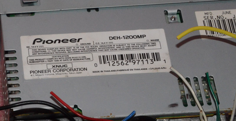 Pioneer Stereo Deh 1200mp Wiring