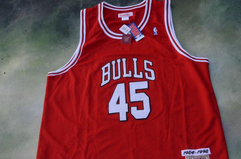 401d1e313e5 Details about Vintage Mitchell & Ness NBA Chicago Bulls Michael Jordan #45 Jersey  Size 58.