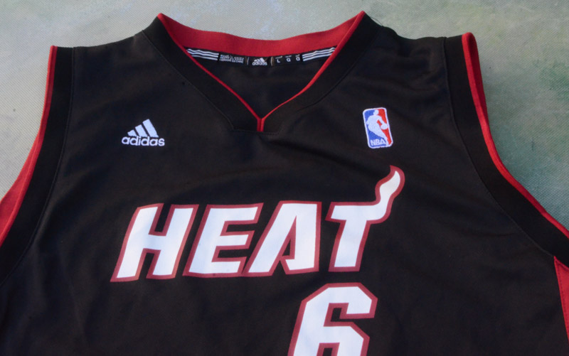 new concept 42a1b bc2d1 Details about Adidas NBA Miami Heat LeBron James #6 Jersey Size Youth L.