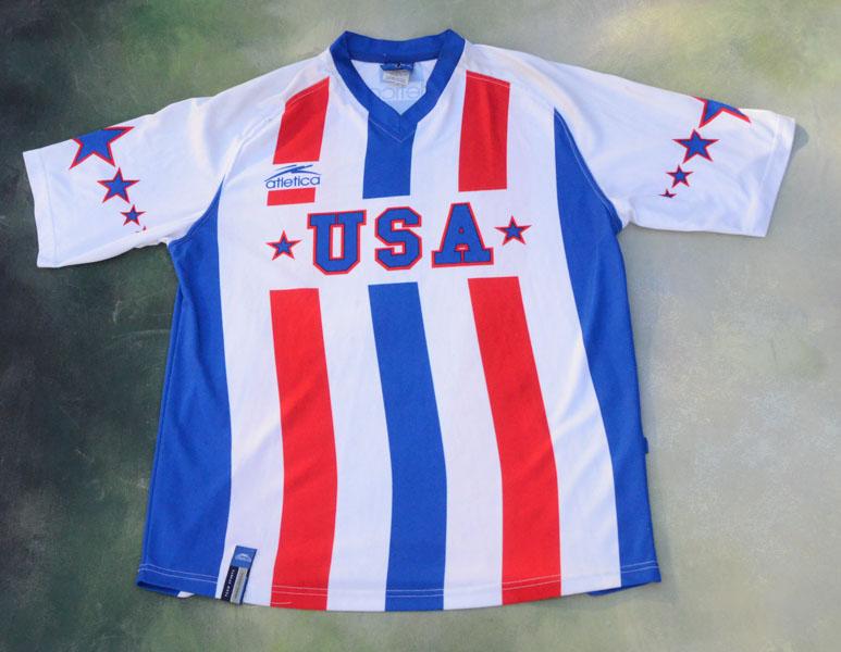 cozy fresh 41157 aff4e Details about Vintage Atletica USA National Soccer Team Jersey Size XL.