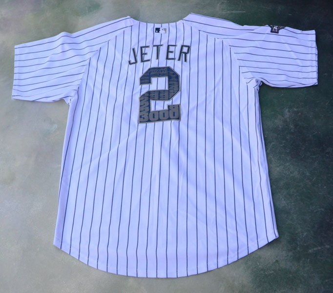 new styles 6d7b5 26d51 Details about Majestic MLB New York Yankees 3000 Career Hits Derek Jeter #2  Jersey Size 52.