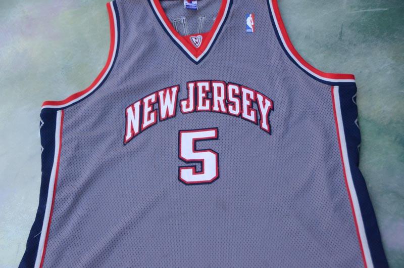 Details about RARE Vintage Champion NBA New Jersey Nets Jason Kidd  5  Jersey Size 56. 61403d2dc