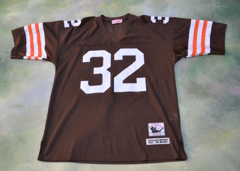256edf284 Vintage Mitchell & Ness NFL Cleveland Browns Jim Brown #32 Jersey ...
