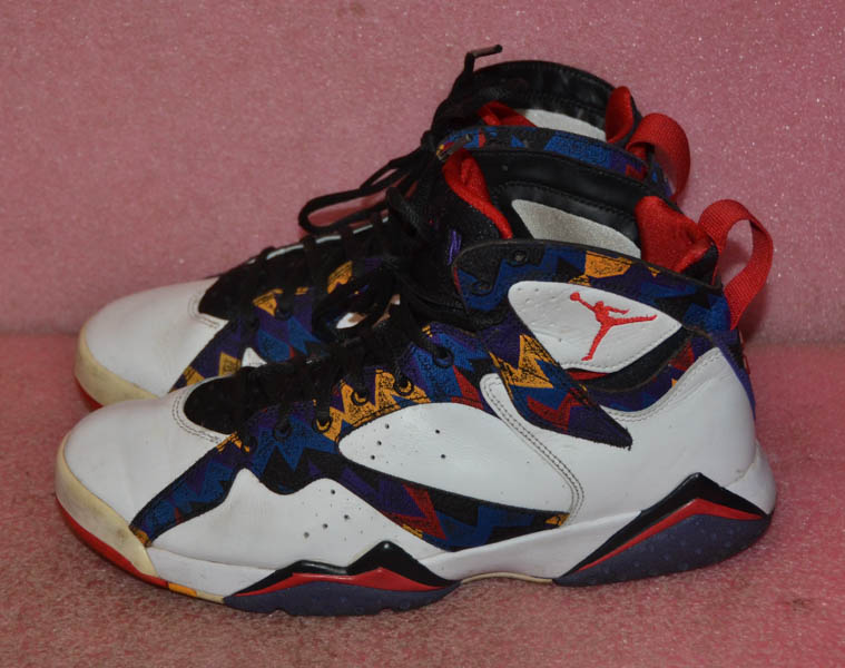 Details about Nike Air Jordan VII 7 Retro NOTHING BUT NET Ugly Sweater  304775,142 Size 9
