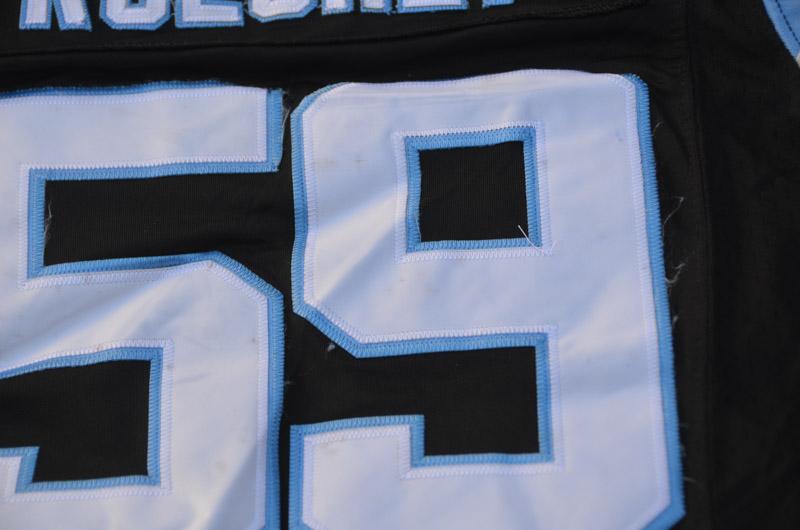Style Broderie Manches Courtes /À Nettoyage R/ép/étable Respirant /À S/échage Rapide JFMBJS Maillot De Rugby Luke Kuechly #59 Carolina Panthers Maillot De Football Cadeau pour Homme