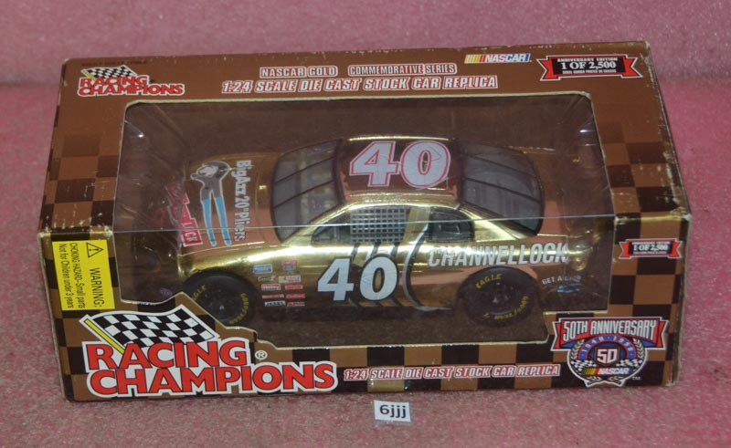 Rare 1998 Commemorative Gold Series Red Wheels Racing Champions  NASCAR Fans 1:64 Scale Die Cast Dirk West #95 Ford Thunderbird