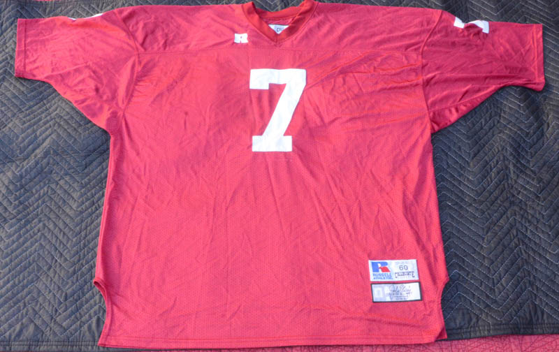 best service aca7e a0b19 Details about Russell Collegiate Legends Stanford Cardinal John Elway #7  Jersey Size 60.